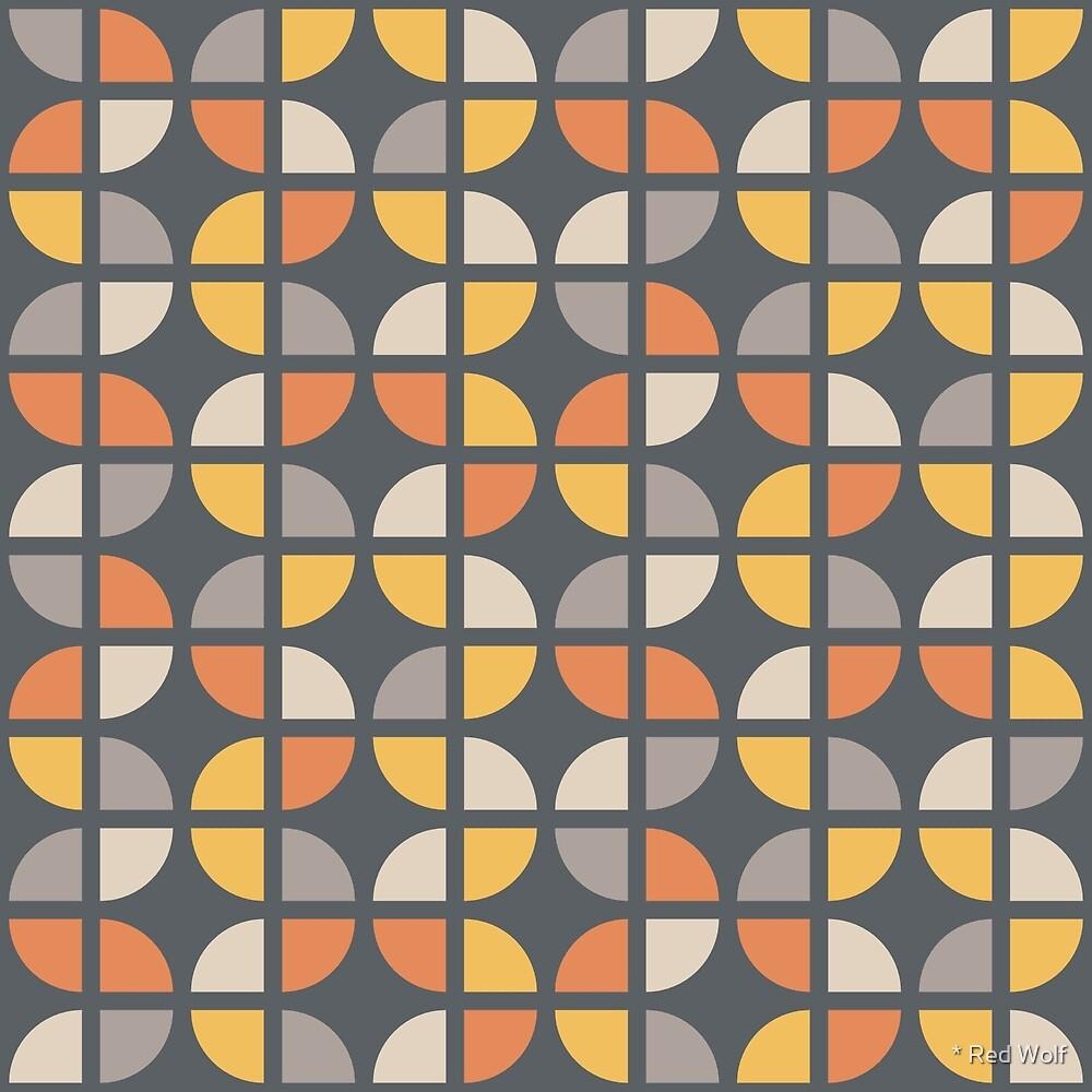 Geometric Pattern: Quarter Circle: Sunset by * Red Wolf