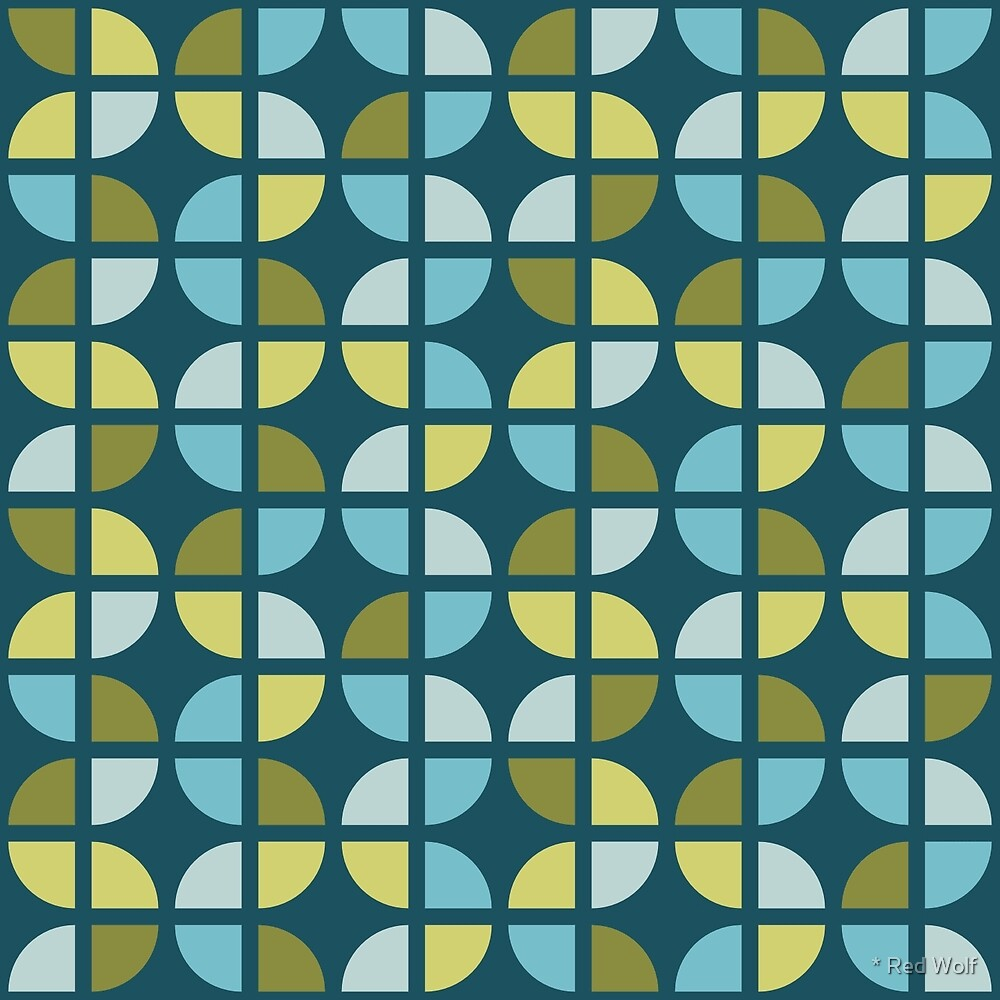 Geometric Pattern: Quarter Circle: Pond by * Red Wolf