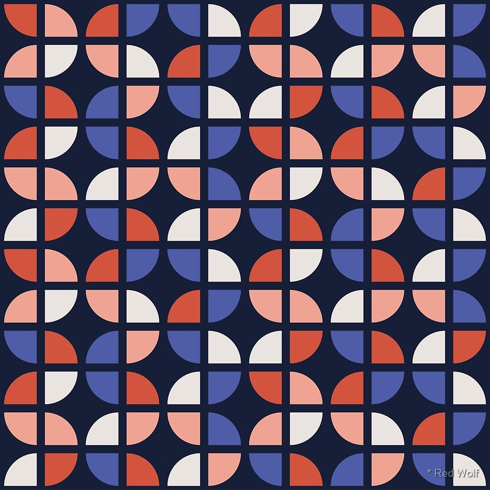 Geometric Pattern: Quarter Circle: Winter by * Red Wolf