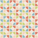 Geometric Pattern: Quarter Circle: Spring by * Red Wolf