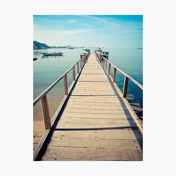 Step towards Komodo Photographic Print