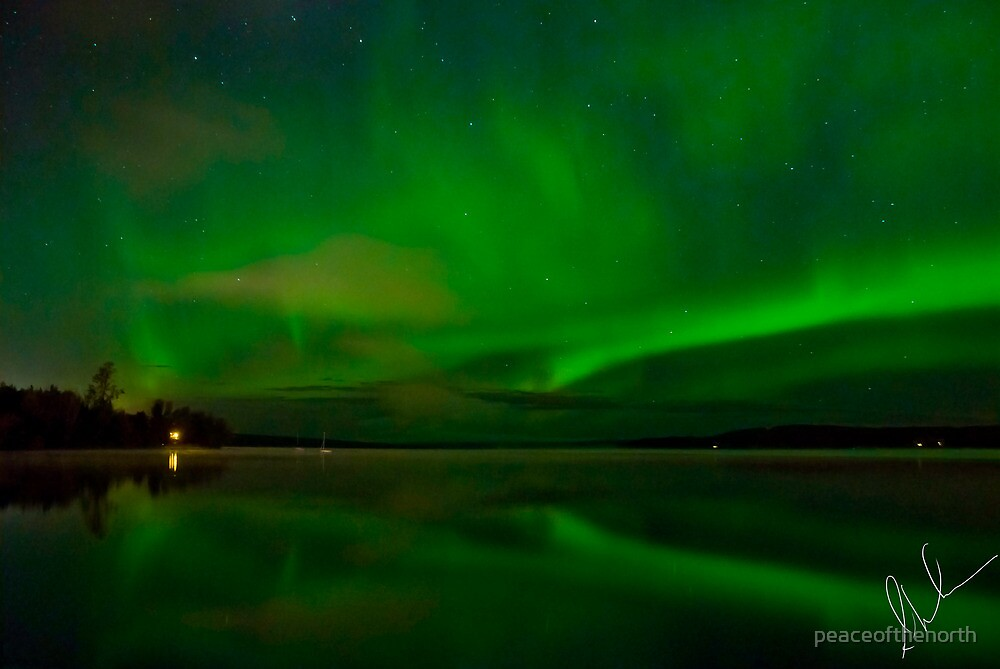 Aurora Reflections by peaceofthenorth