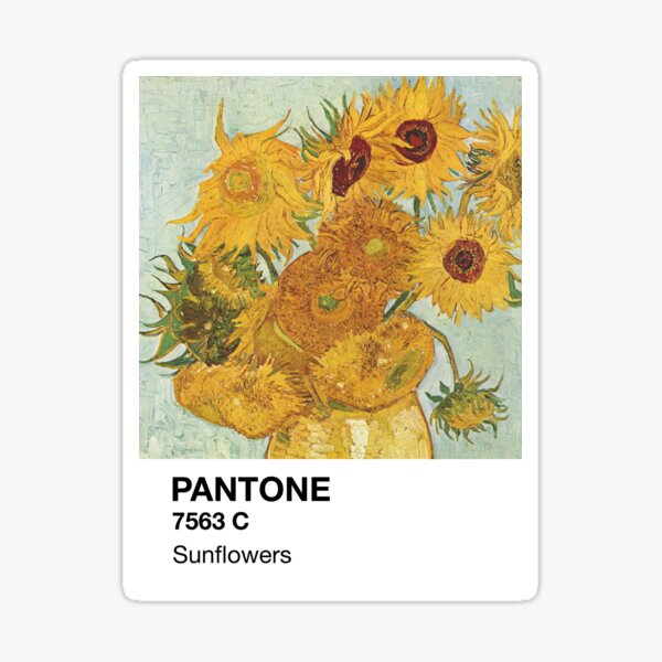 Pantone Sunflowers Sticker