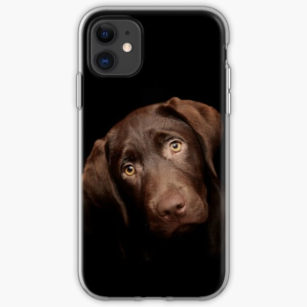 Black Labrador Retriever Silhouette(s) iPhone 11 case
