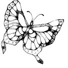 Scribbler Butterfly by Catherine  Howell