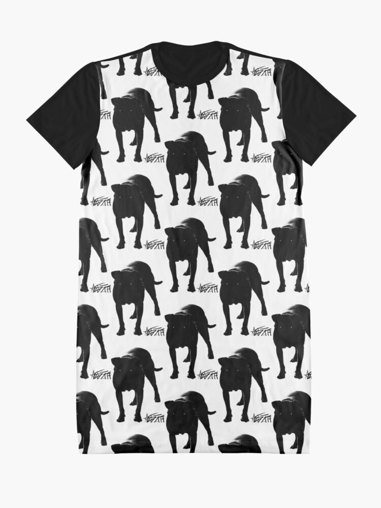 Alternate view of I love my Am Staff Graphic T-Shirt Dress