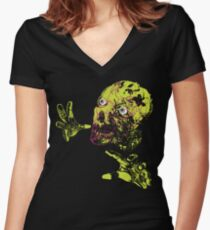 Zombie Grab Women's Fitted V-Neck T-Shirt