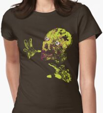Zombie Grab Womens Fitted T-Shirt