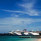 Cruise Ships, Nassau Harbour, Nassau, Bahamas by Shane Pinder