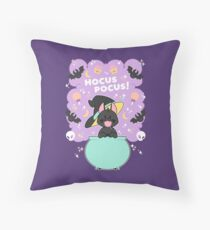 Hocus POCUS! Lucky the Black Cat Throw Pillow