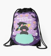 Hocus POCUS! Lucky the Black Cat Drawstring Bag