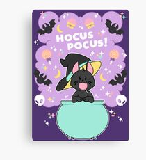 Hocus POCUS! Lucky the Black Cat Canvas Print