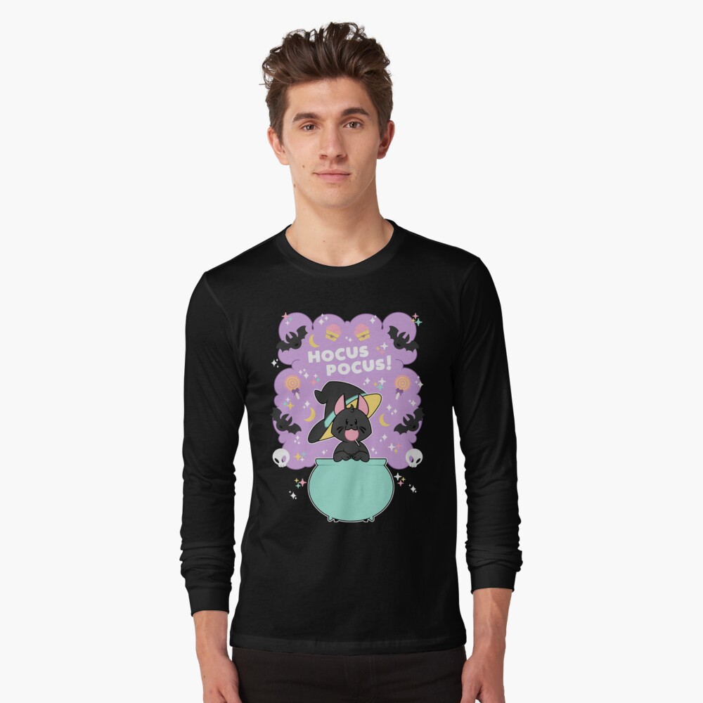 Hocus POCUS! Lucky the Black Cat Long Sleeve T-Shirt