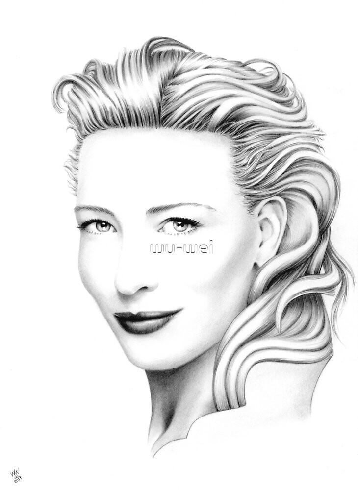 Cate Blanchett Portrait no.2 by wu-wei