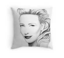 Cate Blanchett Portrait no.2 Throw Pillow