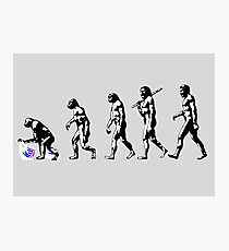 Devolution of Man Photographic Print