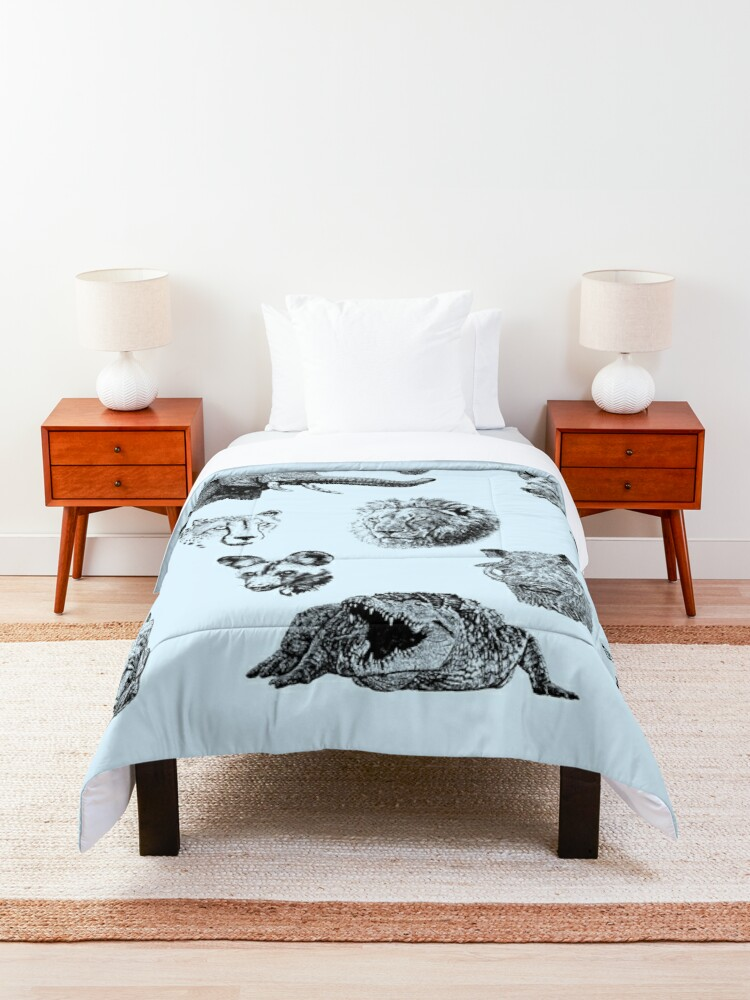 Alternate view of African Wildlife Safari Sightings Comforter