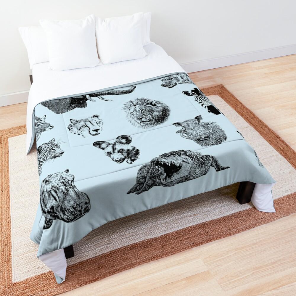 African Wildlife Safari Sightings Comforter