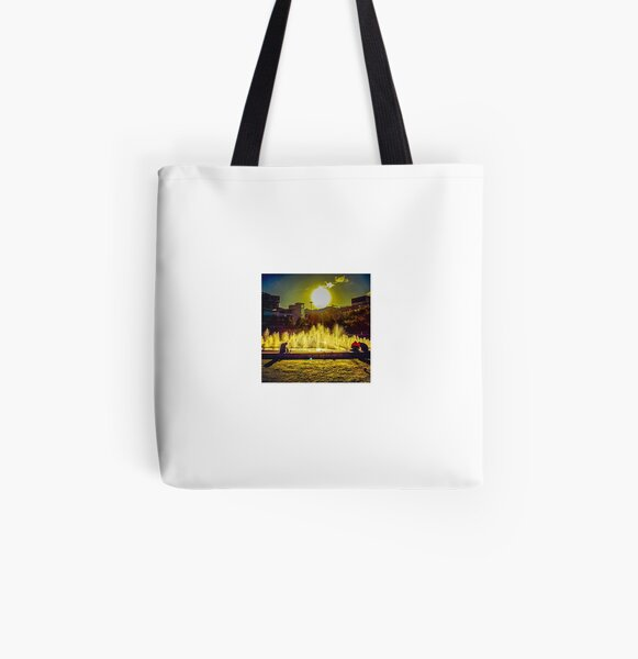 Piccadilly Gardens, Manchester All Over Print Tote Bag