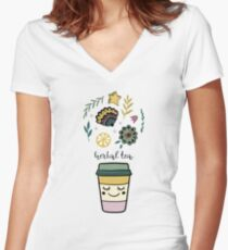 Herbal tea Fitted V-Neck T-Shirt