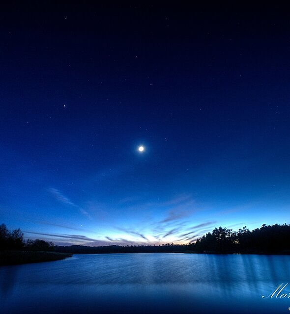 Stars Over the Pond by Martin Finlayson