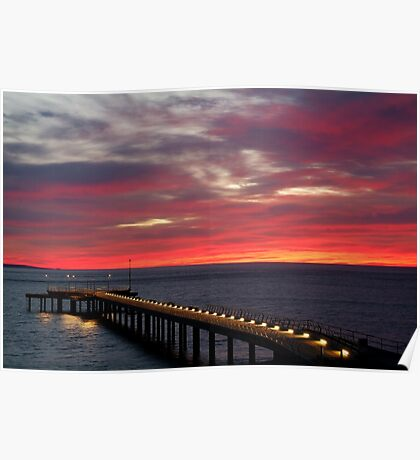 Sunrise Lorne Pier, Great Ocean Rd Poster