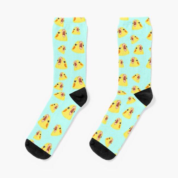 screming cockatiel pattern Socks