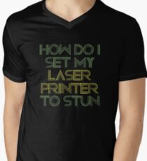 Laser Printer Men's V-Neck T-Shirt