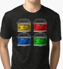 Multi colors Volkswagen kombi Tri-blend T-Shirt