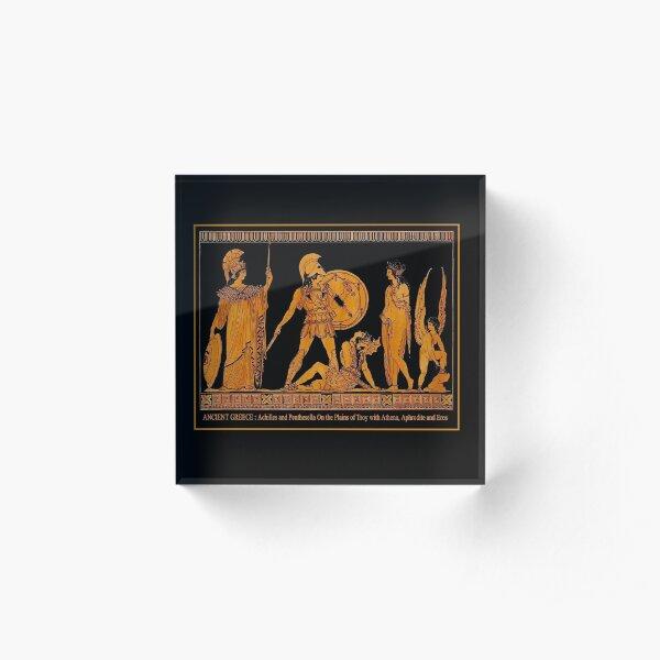 GREECE : Ancient God and Goddess Frieze Print Acrylic Block