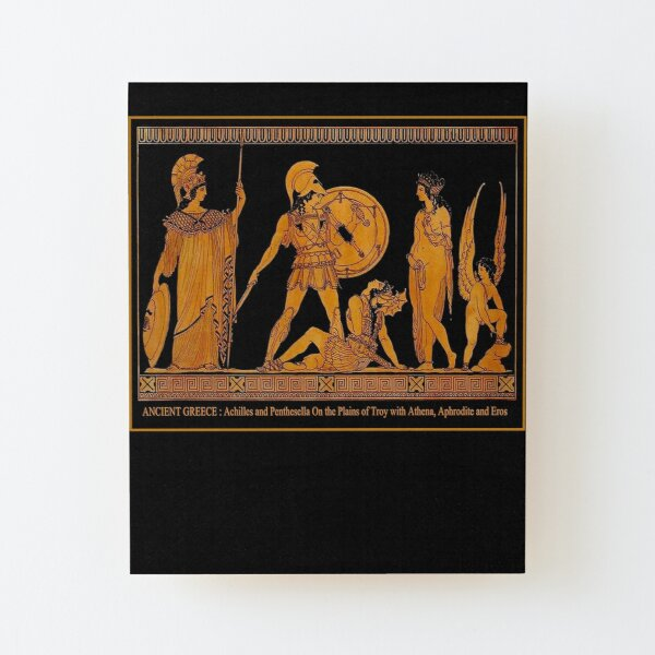 GREECE : Ancient God and Goddess Frieze Print Wood Mounted Print
