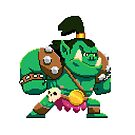 Pixel Orc by theknobbywood