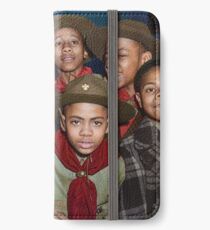 Troop 446 Boy Scouts meeting in Chicago, 1942 iPhone Wallet/Case/Skin
