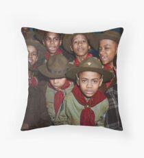 Troop 446 Boy Scouts meeting in Chicago, 1942 Floor Pillow