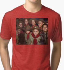 Troop 446 Boy Scouts meeting in Chicago, 1942 Tri-blend T-Shirt