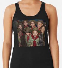 Troop 446 Boy Scouts meeting in Chicago, 1942 Racerback Tank Top