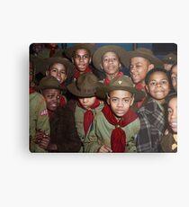 Troop 446 Boy Scouts meeting in Chicago, 1942 Metal Print
