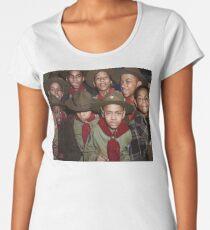 Troop 446 Boy Scouts meeting in Chicago, 1942 Premium Scoop T-Shirt