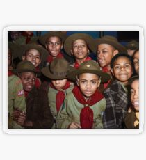 Troop 446 Boy Scouts meeting in Chicago, 1942 Transparent Sticker