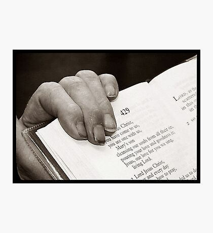 Her Favourite Prayer Book Photographic Print