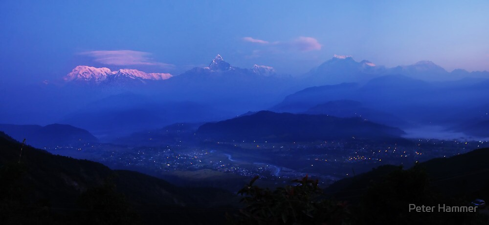 The Himalayas from Sarangkot by Peter Hammer