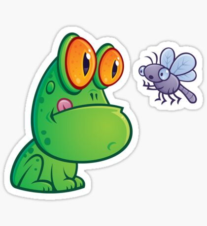 Frog and Dragonfly Sticker