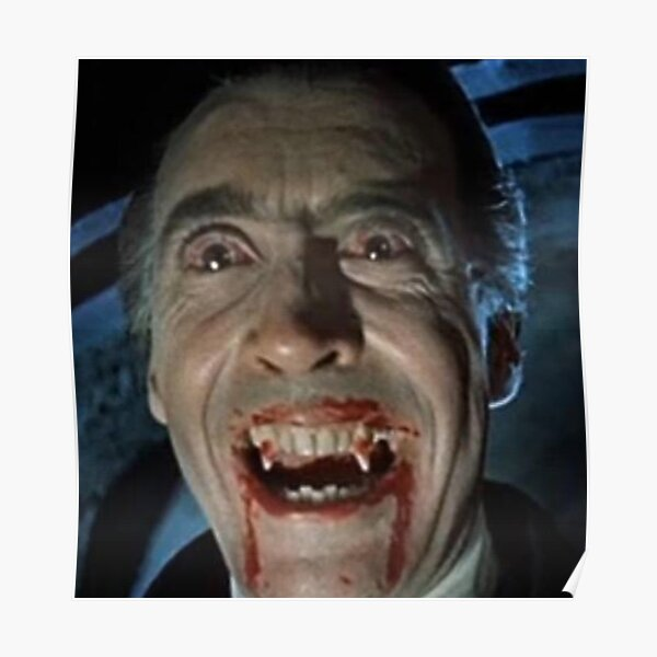 VAMPIRE. DRACULA. Christopher Lee as the title character in Dracula.1958. Poster