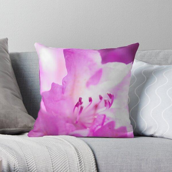 Azalea In Bright Pink Throw Pillow