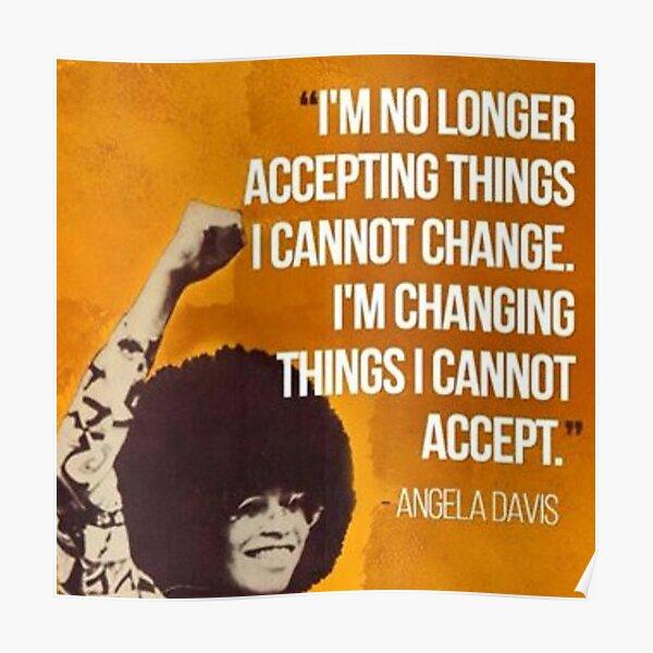 Angela Davis - leader des droits civiques Poster