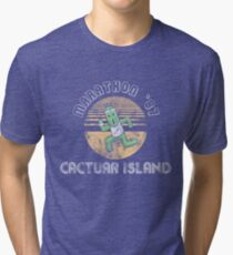 Cactuarathon- Final Fantasy Parody Tri-blend T-Shirt