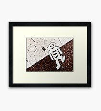 Little Road Man Framed Print
