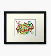 TMNT Watercolor Framed Print