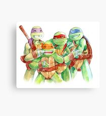 TMNT Watercolor Canvas Print