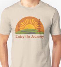 Enjoy the Journey + Fall Landscape (Ashley Scott Designs - Fall Collection) Slim Fit T-Shirt